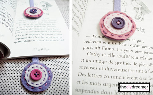 DIY Felt Ribbon Bookmark