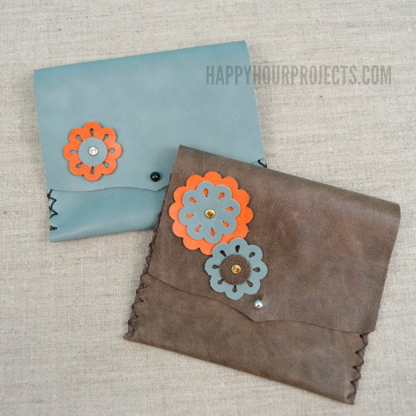 DIY Floral Themed Leather Wallet Tutorial
