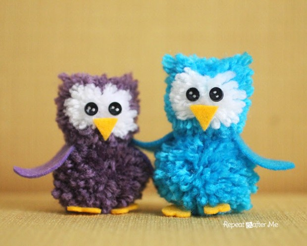 DIY Crochet Pom Pom Owls