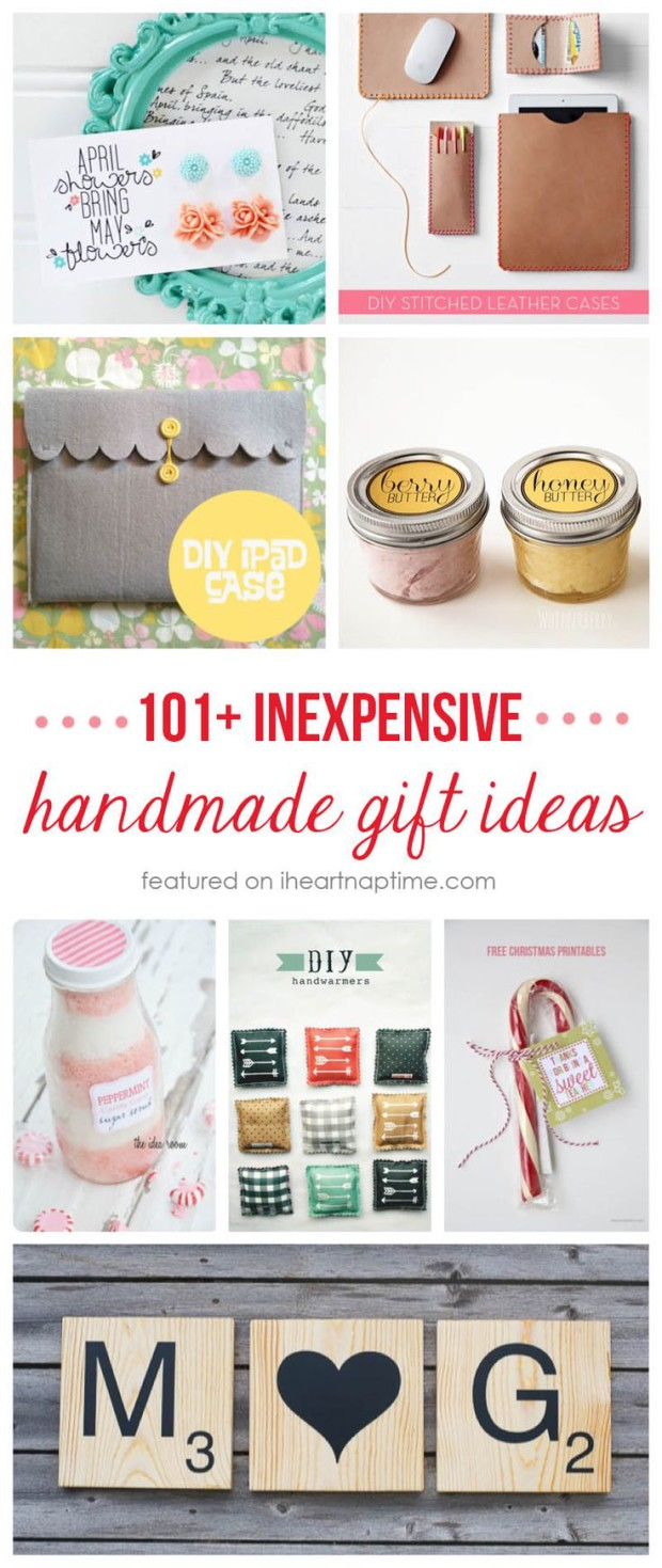 101 Inexpensive Handmade Gift Ideas