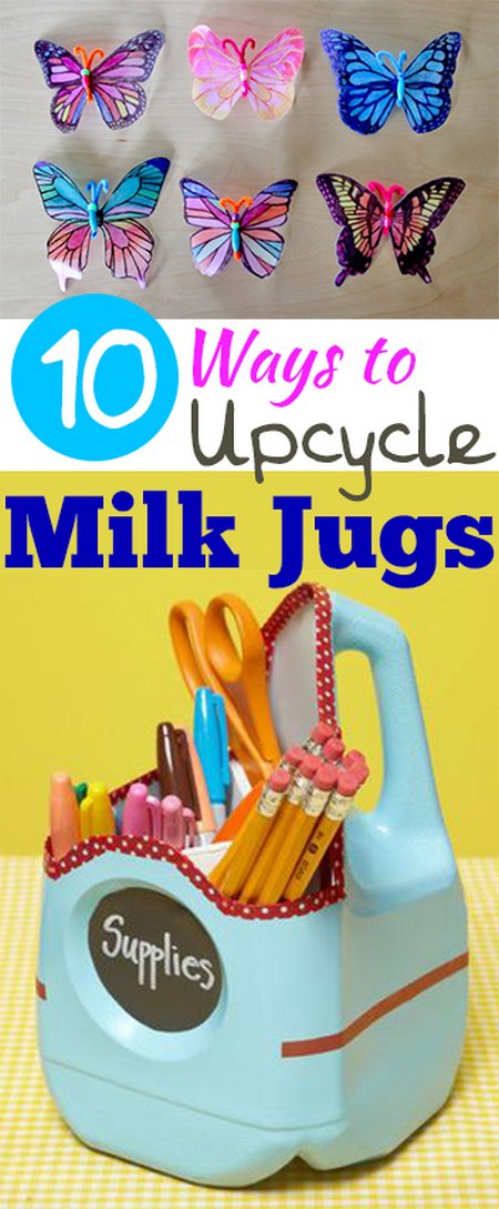 10 ways to upcycle milk jugs new craft works