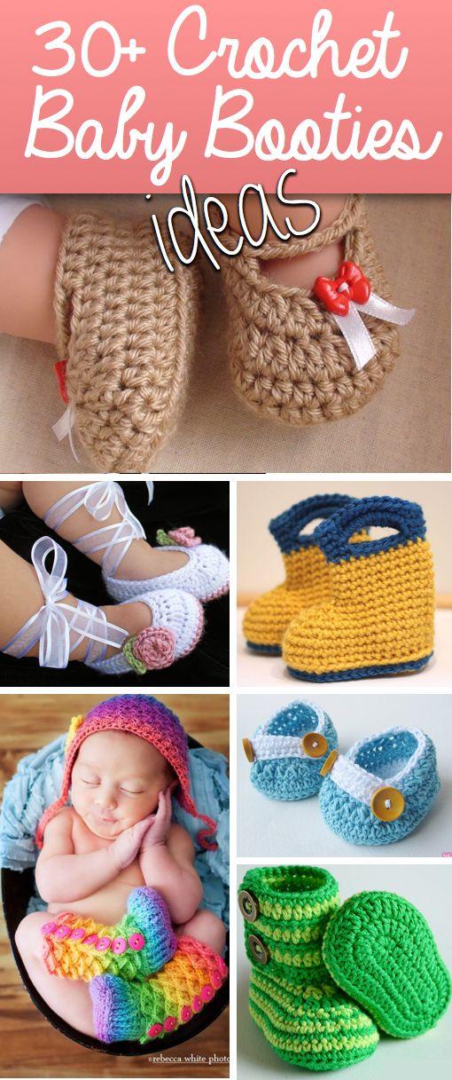 30 crochet baby booties ideas
