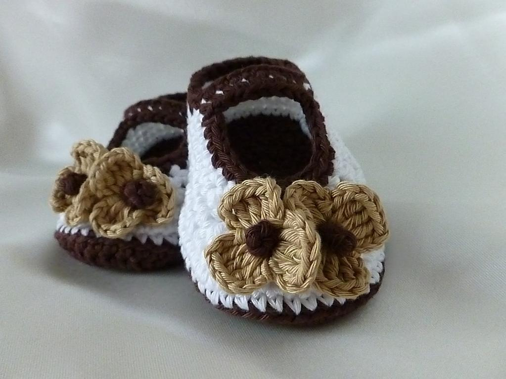 Free Crochet Pattern Cappuccino Baby Shoes New Craft Works