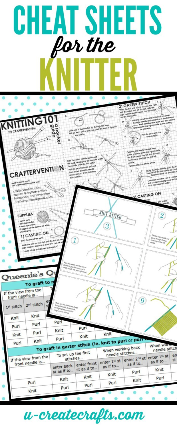 Cheat Sheets for Knitters