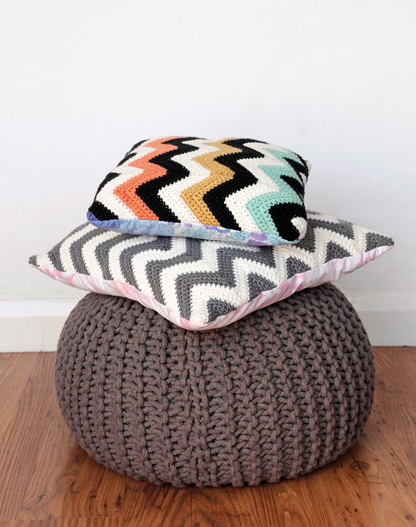 Free Crochet Pattern | Chevron crochet cushion pattern