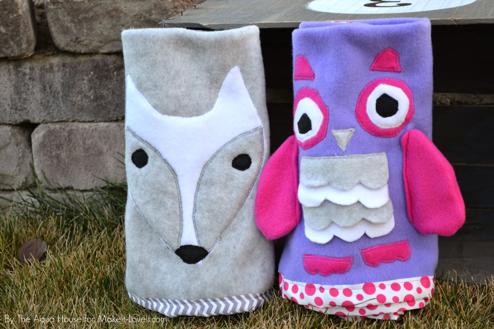DIY Tutorial | Animal Roll-up Fleece Blankets