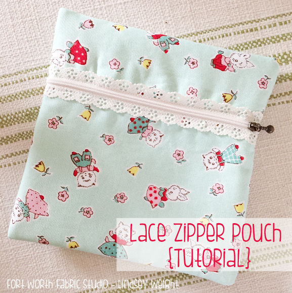DIY Lace Zipper Pouch