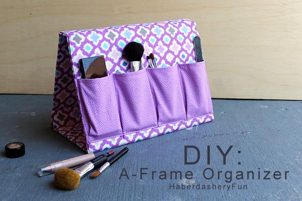 DIY Fabric Frame Organizer