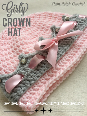Free Crochet Pattern | Girly Crown Hat