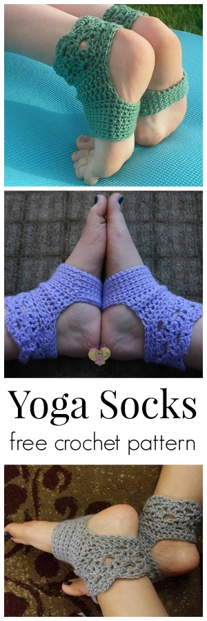 Free crochet pattern for yoga socks