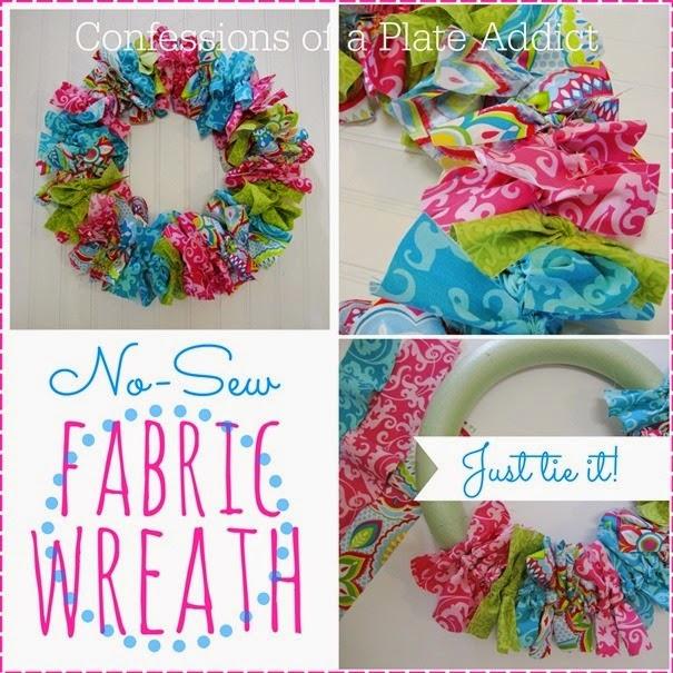 No Sew Fabric Wreath