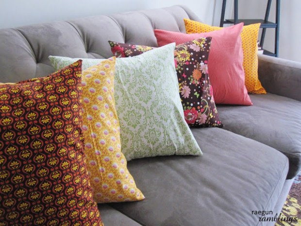 Diy Throw Pillow Instructions : Sewing Tutorial Quick Envelope Pillow Case - New Craft Works