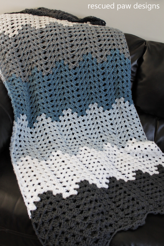 Ripping trails Crochet Blanket Free Pattern