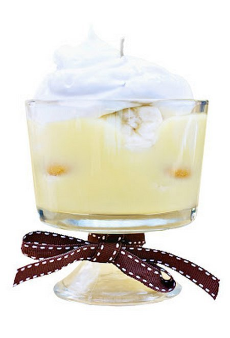 DIY Banana Cream Pudding Candle