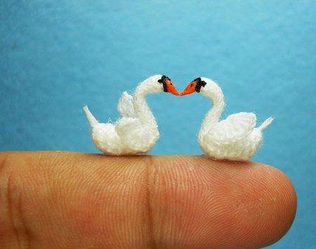 9 Miniature Crochet Animals