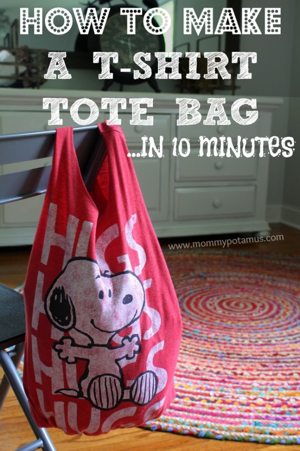 Recycling T Shirts | No Sew T Shirt Tote Bag in 10 Minutes