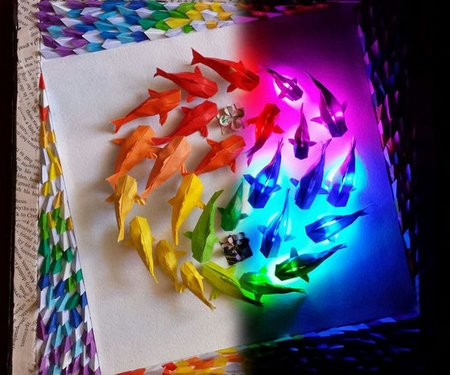 Paper craft archives page 2 of 2 new craft works for Koi wall hanging