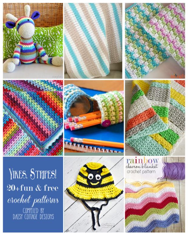 20 Free Stripe Crochet Patterns