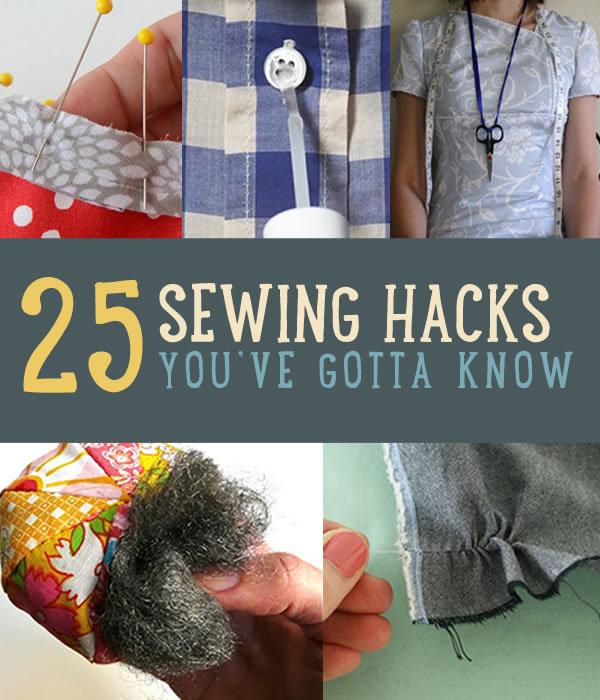 25 best sewing hacks