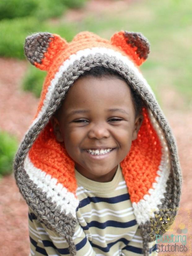 Crochet Fox Bonnet by Busting Stitches - FREE crochet pattern