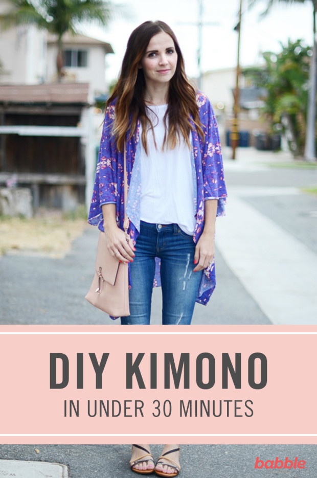 How to Sew a Kimono in Less Than 30 Minutes