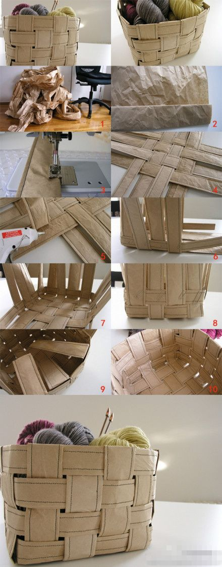 DIY RECYCLED PAPER BASKET