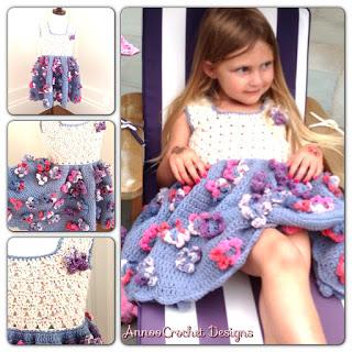 Field of Flower Summer Toddler Dress Free Crochet Pattern