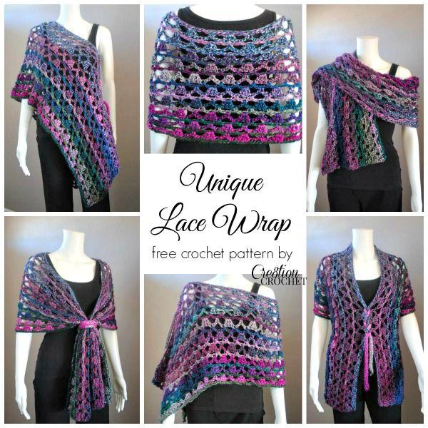 Unique Lace Wrap | Free Crochet Pattern