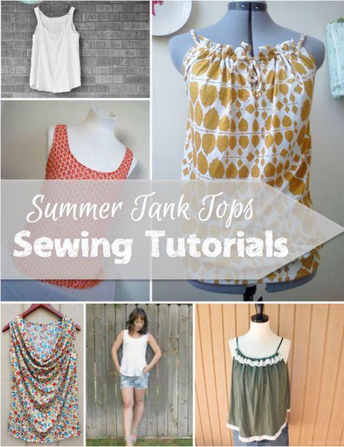Top Tutorials Youtube: Summer Tank Tops Sewing Tutorials