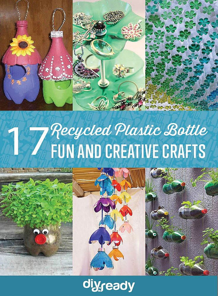 Turn those empty bottles into something useful and decorative with these 17 DIY Crafts Using Recycled Plastic Bottles by DIY Ready at http://diyready.com/17-diy-crafts-using-recycled-plastic-bottles/