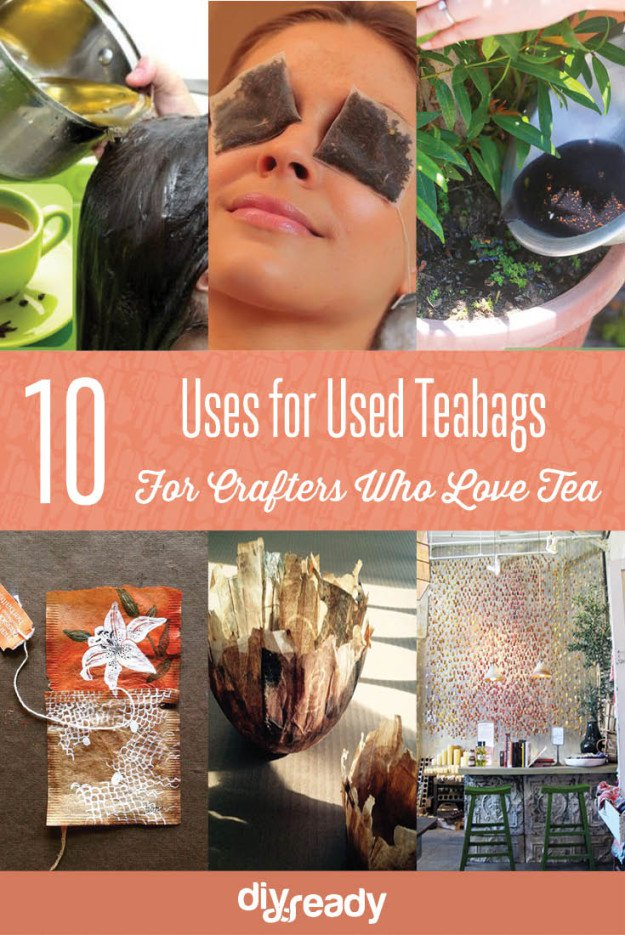 10 Uses for Used Teabags For Crafters Who Love Tea! See them all at Diyready