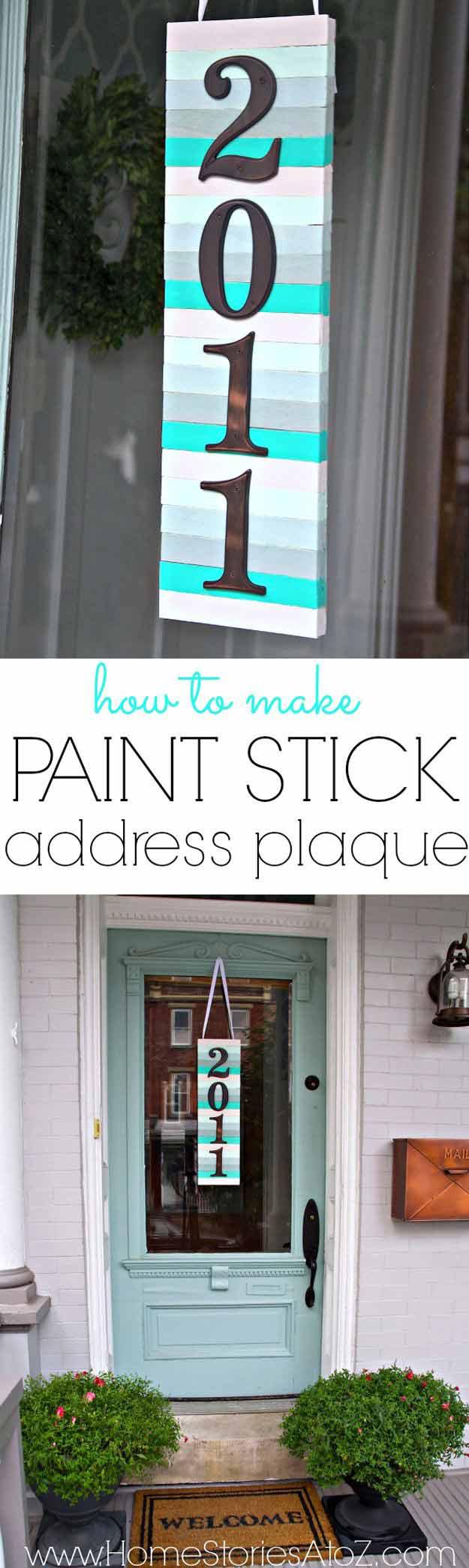 DIY Address Plaque | 17 Amazing DIY Paint Chip Projects