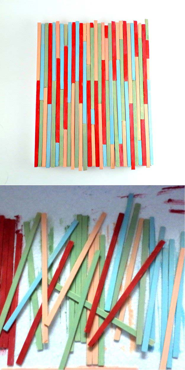 Paint Stick Wall Art | 17 Amazing DIY Paint Chip Projects