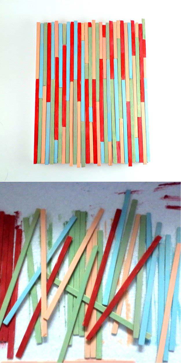 Paint Stick Wall Art | 17 Amazing DIY Paint Chip Projects