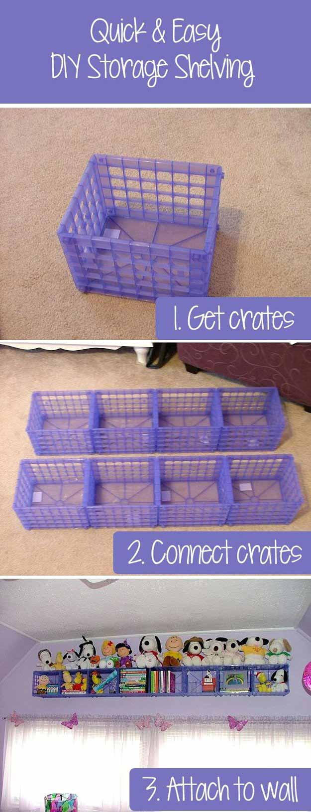 DIY Crate Toy Storage   24 Smart DIY Toy & Crafts Storage Solutions