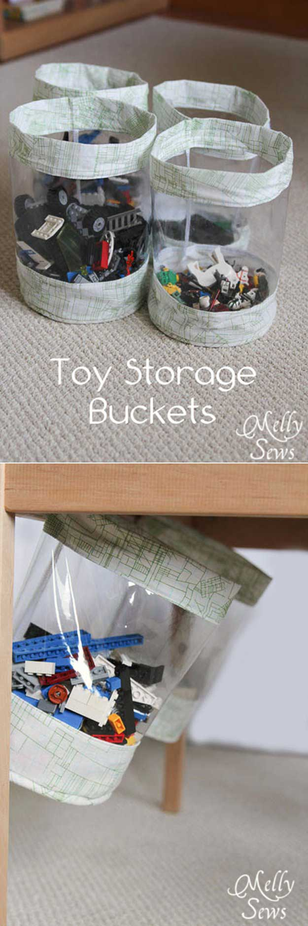 DIY Hidden Storage Bins | 24 Smart DIY Toy & Crafts Storage Solutions