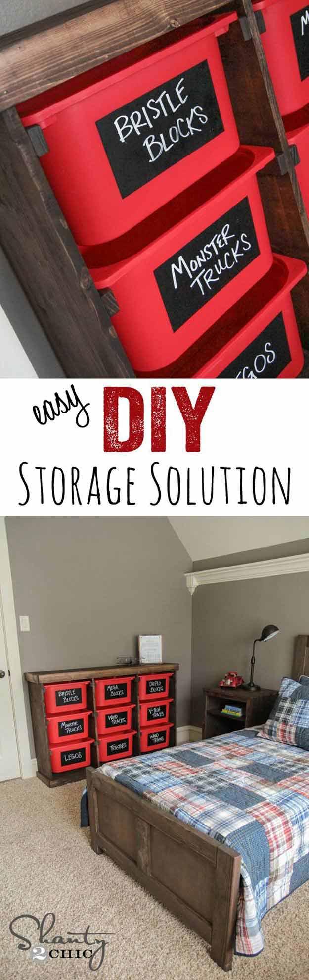 Easy DIY Toy Storage Idea   24 Smart DIY Toy & Crafts Storage Solutions