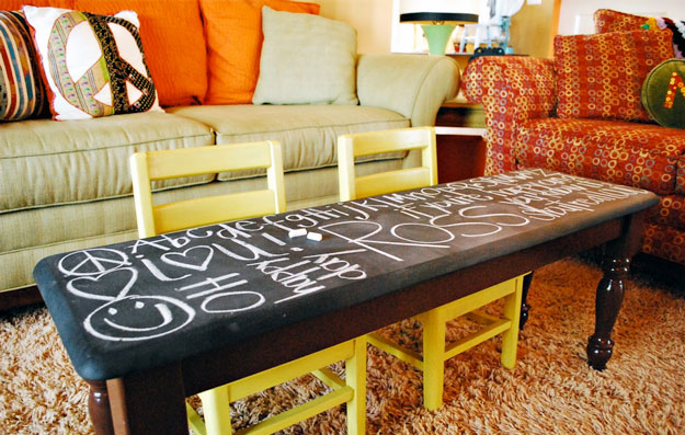 Chalkboard Table DIY Project for Game Room