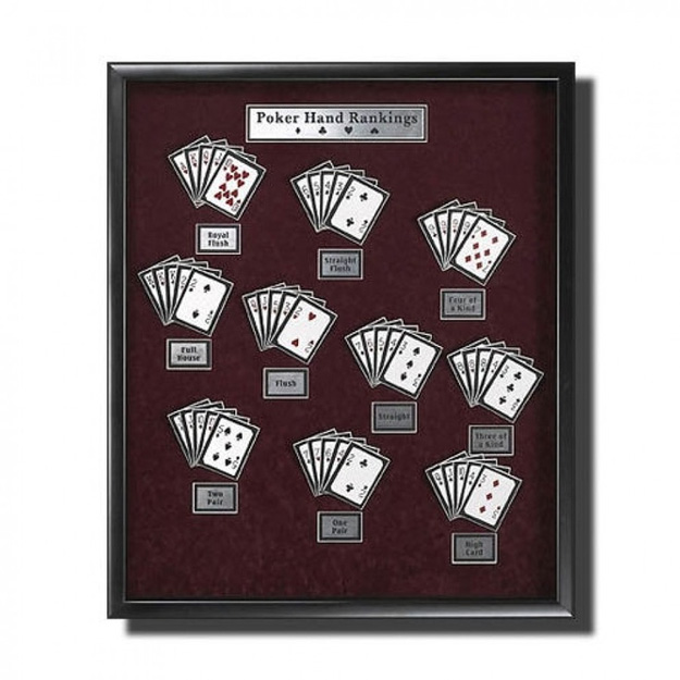 Poker Hands Wall Art DIY Projects for Game Room