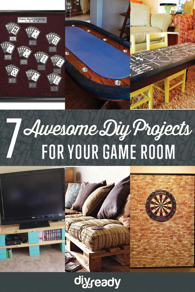 7 Awesome DIY Projects For Your Game Room