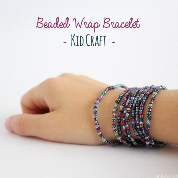 Beaded Wrap Bracelet for Kids | DIY Beaded Bracelets You Bead Crafts Lovers Should Be Making