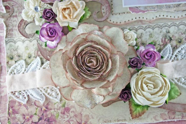 Cabbage Rose Paper Flower   10 Flower Craft Ideas: How to Make Construction Paper Flowers