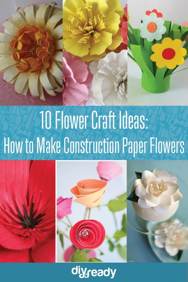 10 construction paper flowers diy flower craft ideas new craft works 10 construction paper flowers diy flower craft ideas see them all at diyready mightylinksfo