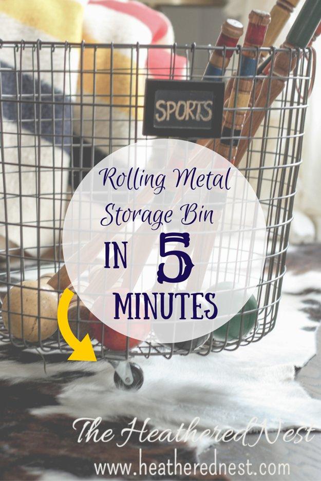 5-Minute Rolling Storage Bin   24 Smart DIY Toy & Crafts Storage Solutions
