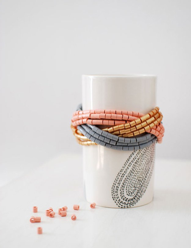 Braided Cuff Bracelet With Hama Beads | DIY Beaded Bracelets You Bead Crafts Lovers Should Be Making