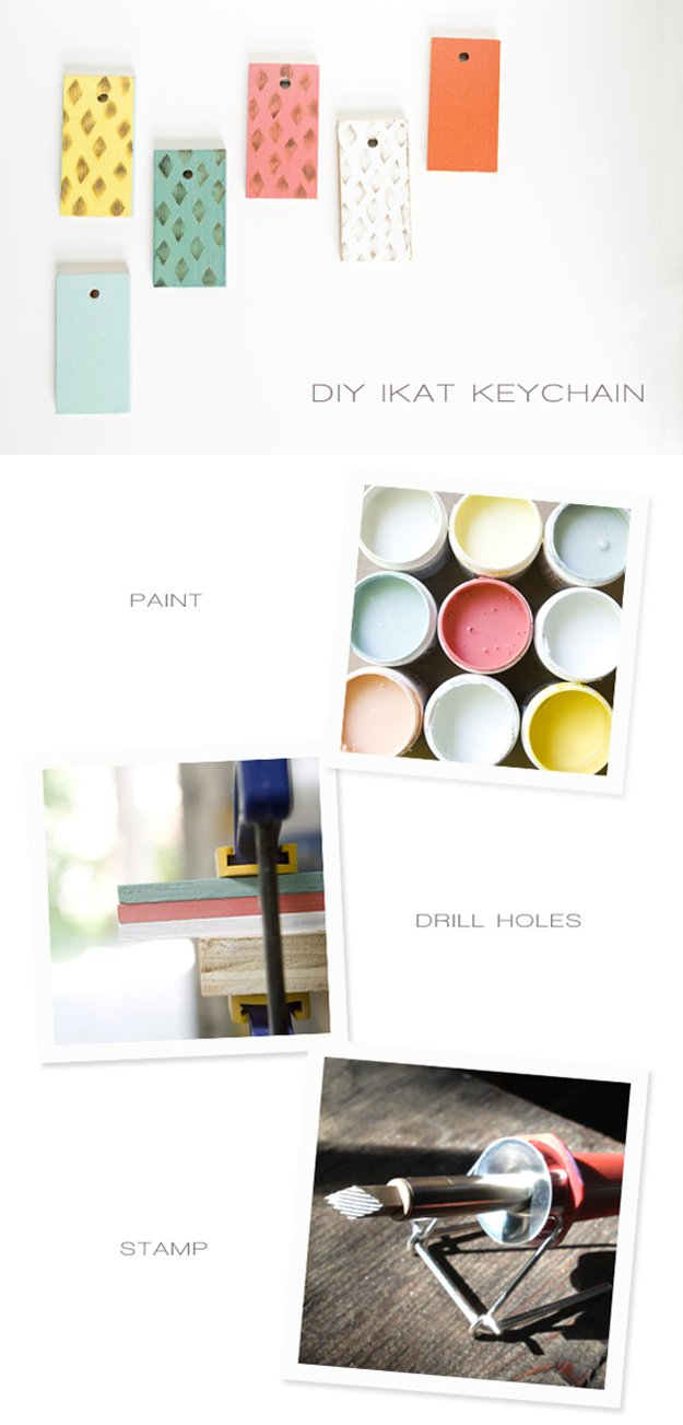 DIY Paint Stick Key Chain | 17 Amazing DIY Paint Chip Projects