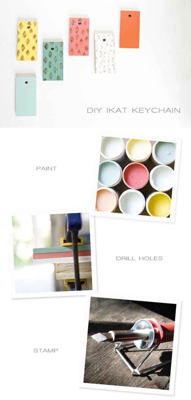 DIY Paint Stick Key Chain | 17 Amazing DIY Paint Chip Projects