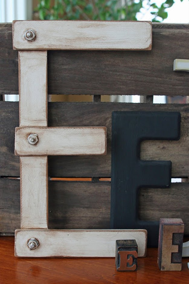 Paint Stick Letters | 17 Amazing DIY Paint Chip Projects
