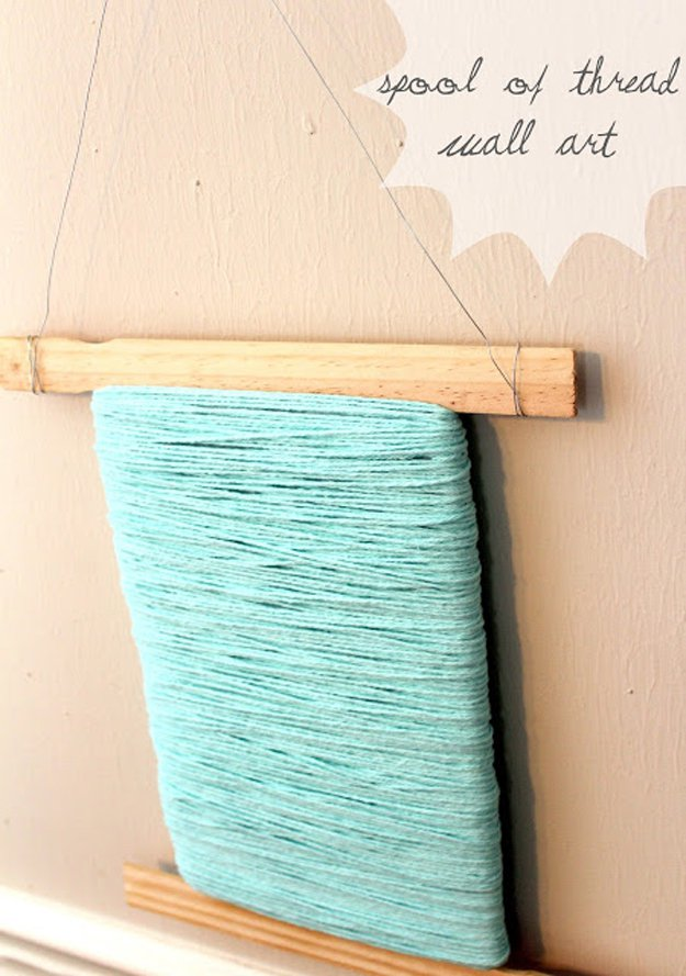 Spool Thread Wall Art | 17 Amazing DIY Paint Chip Projects