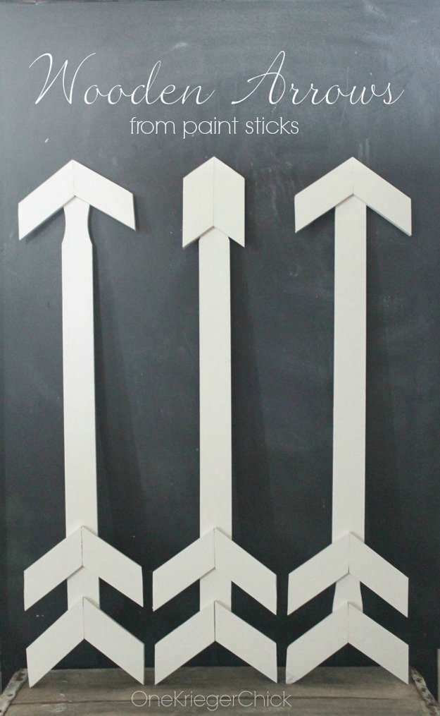 Wooden Arrows | 17 Amazing DIY Paint Chip Projects